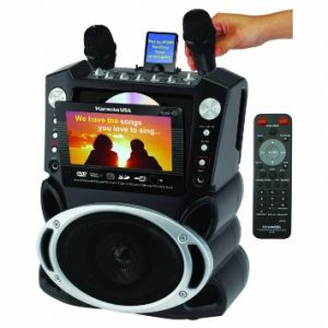 Karaoke USA Karaoke Player with 7-inch LCD Screen