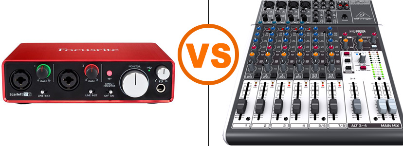 usb mixer vs audio interface